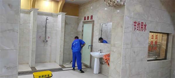 鑫龙洗浴场所地面防滑施工